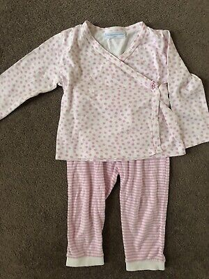 Gorgeous, The Little White Company Girls Pyjamas,White & Pink Size 18-24months,