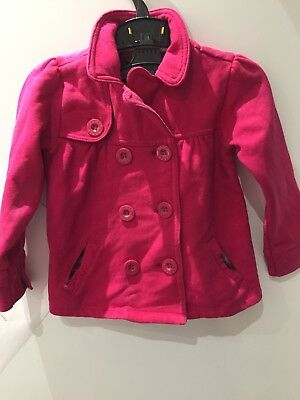 Baker By Ted Baker Girls Fuschia Pink Button Jacket - Age 3-4