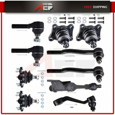 10 Pieces Front Suspension Kit Tie Rod End For 1986 1987-1989 TOYOTA PICKUP 4WD
