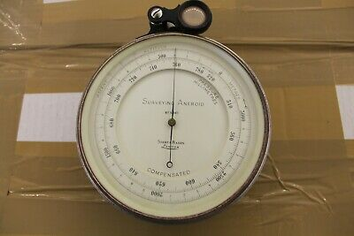 Surveying Aneroid Barometer Short & Mason London Con Funda Barometro