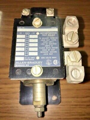 Allen Bradley 809-A07E Trip Current Relay, Series A, Used