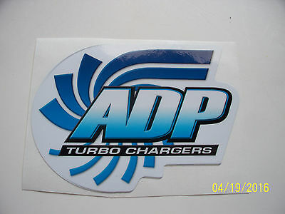 "Original  Racing   Decal ""  Adp   Turbo  Chargers  ""  7"" X 4""   # 2"