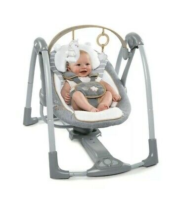 Ingenuity Collection Swing N Go Portable Swing - Teddy Bella