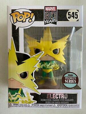 FUNKO POP! Specialty Series MARVEL 80th First Appearance Electro Figure Mint Box