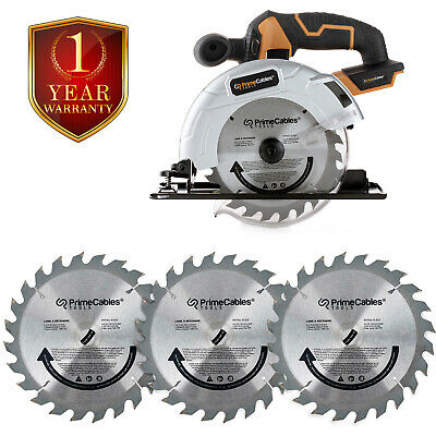 "6 ½"" Cordless Circular Saw with 20V Lithium-ion Battery& Charger with Blade 3Pcs"