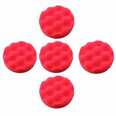 75mm Ultra Soft Final Finishing Mop Sponge for Buffing Polishing Hook + Loop 5pc