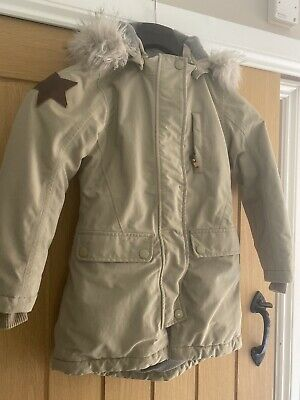 Molo Girls Winter Coat Warm Fur Hood Detectable 7-9 Years