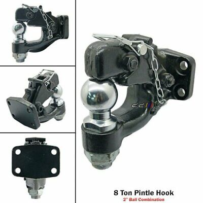 """AVM Universal Removable Pintle Hook 15.4/"""" Pintle Hitch With Ball"""