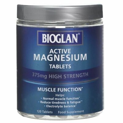 Bioglan Magnesium 120 Tablets 375mg High Strength New