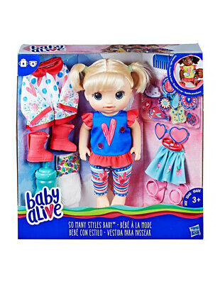 Baby Alive So Many Styles Baby Blonde Create different outfits