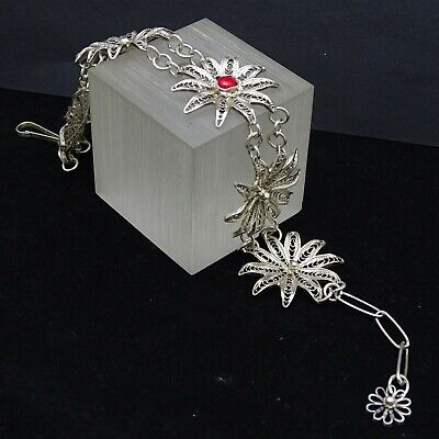 Antique Vintage Filigree Sterling Silver Bracelet