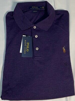 GENUINE Polo Ralph Lauren Mens Stretch Soft Touch Polo Shirt in Purple Size XL