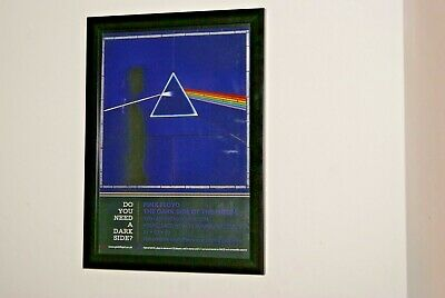 PINK FLOYD - framed A4 rare ORIGINAL 2003 ` dark side of moon ` album poster