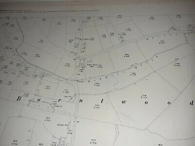 Old Antique Ordnance Map 1923 Staffordshire LII.13 Burntwood & Woodhouses
