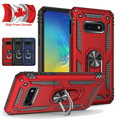 For Samsung S10e S10 Plus S9 S8 Armor Shockproof Magnetic Ring Stand Case Cover