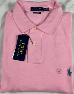 GENUINE Polo Ralph Lauren Mens Polo Shirt in Pink Size XL CLASSIC FIT