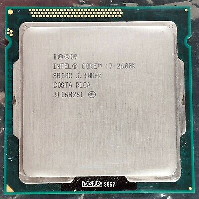 Intel QUAD Core 8 thread i7-2600K SR00C 3.40GHz Socket LGA1155 CPU Sandy Bridge