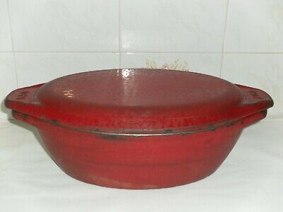 Large Heavy  Aga  Cast Iron Cooking Casserole Dish Pot with Lid 907208