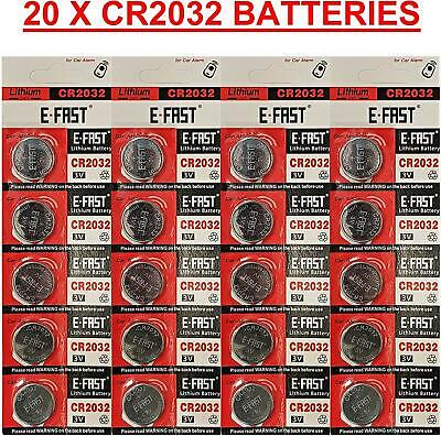 20 x CR2032 BR2032 DL2032 Branded 3V LITHIUM Coin Cell Button Batteries Cheapest