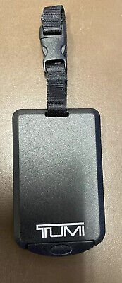 New Tumi Alpha Black Silver Lettering Leather Large Size Luggage Tag Idt1 Tf2