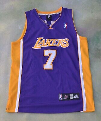 Vintage Adidas NBA Los Angeles Lakers Lamar Odom #7 Jersey Size 44.