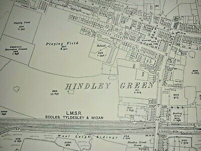 Old Antique Ordnance Map 1937 Lancashire XCIV.15 Hindley Green & Westleigh ...
