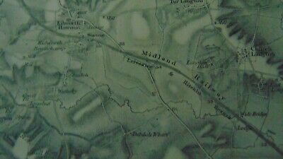 Circa 1850 Very Large Map Of Leicestershire - Railway Interest