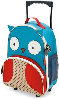 Skip Hop ZOO LUGGAGE KIDS ROLLING SUITCASE - OWL Toddler Children Bag BNIP