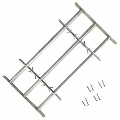 vidaXL Adjustable Security Grille for Windows with 3 Crossbars 500-650mm Safe#