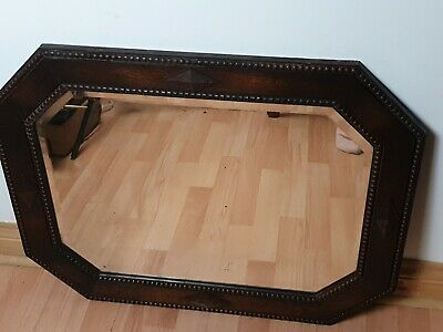 Antique Arts And Crafts Bevelled Mirror