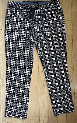 NWT Tommy Hilfiger Pants 12 38x29 Mid Rise Stretch Slim Ankle Womens $64