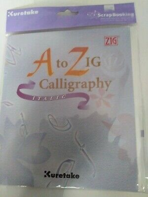 Kuretake A-Zig how to calligraphy italic  new and sealed