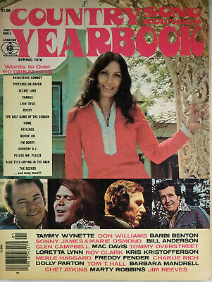Country Song Roundup Yearbook Magazine 1976 - Lyrics To Over 60 Hits - No Label