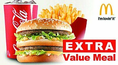 McDonalds 5 Combo Meal Cards Redeem an Extra Value Combo Meal for FREE!!!