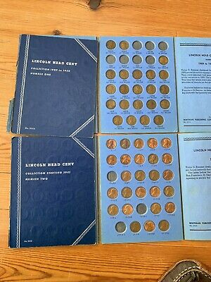 Whitman Lincoln head cent starter collection, 1909-40 & 1941-74, W/1913s, 1926s