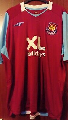 West Ham United Football Home Shirt 2007-2008 NO 6 Moore Size XL World Post!