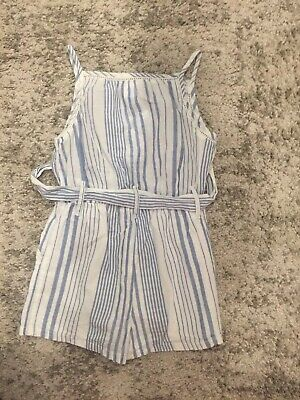 Next girls blue & white cotton playsuit age 3 years