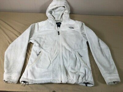 The North Face Full Zipped Hooded Fleece Jacket Womens M 100% Polyester