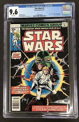 STAR WARS #1 CGC 9.6 NM+ Mint Vintage Marvel July 1977 Comic Book WHITE PAGES