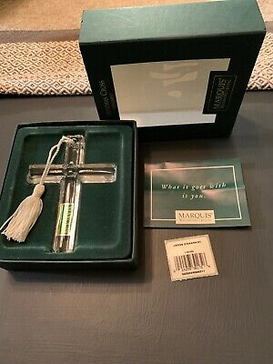 MARQUIS WATERFORD Crystal Christmas Cross ORNAMENT Free Shipping Mint