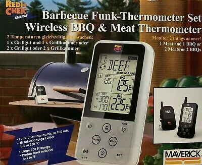 Maverick ET-733 Wireless Barbecue Funk-Thermometer Set, schwarz