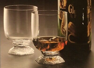 Rosenthal Crystal Classic Rose Whisky Tumbler Maria Pattern - Set of 2