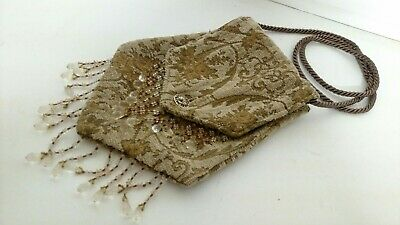 Brown Tapestry Renaissance Medieval Pouch W/Waist Cord