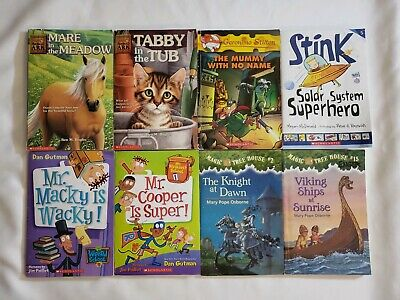 Lot of 20 Childrens Chapter Books 3rd 4th grades Captain Underpants Animal Ark