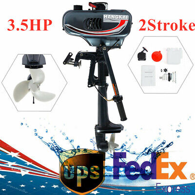 HANGKAI 3.5HP 2 Stroke Outboard Motor Boat Engine CDI system Water Cooling 2500W