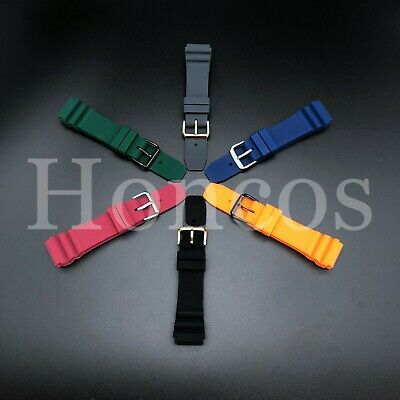 22 MM Black Blue Silicone Rubber Watch Band Strap Fits Citizen Diver 2020 Model