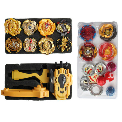 12x Beyblade Gold Burst Set Spinning with Grip Launcher+Portable Box Case Toy