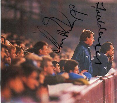 Frank Lampard Snr Harry Redknapp (West Ham United) signed picture