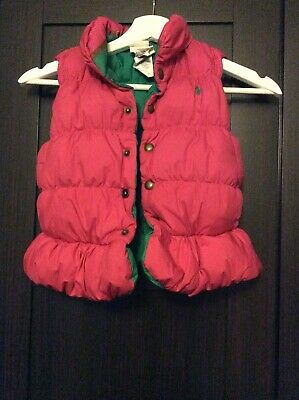 Jacket Quilted Coat Body warmer Gilet Polo ralph lauren girls Age 4 Years