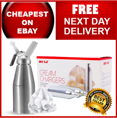 MOSA Cream Chargers Nitrous Oxide Free Next Day Delivery 7x8g